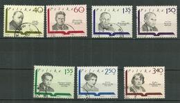 POLAND Oblitéré 1829-1835 écrivain Littérature Staff Broniewski Kruckowski Tuwim Galczynski Nalkowska - 1944-.... Republik