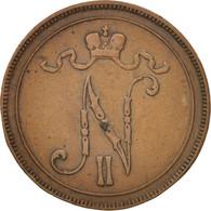 Finlande, Nicholas II, 10 Pennia, 1905, Helsinki, Cuivre, KM:14 - Finlande