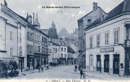 (H S)  CPA  Gray  Rue Thiers  (bon Etat) - Gray