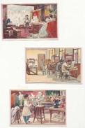CHROMOS - IMAGES ANCIENNES - LOT DE 3 - LES ARTS - LE PEINTRE, LE SCULPTEUR; LE GRAVEUR LITHOGRAPHE - ED. PICARD & KAAS - Trade Cards
