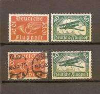 ALLEMAGNE  POSTE AERIENNE N° 1/2   NEUF ** MNH  ET OBLITERE   DE 1919 - Airmail