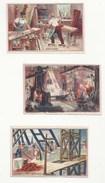 CHROMOS - IMAGES ANCIENNES - LOT DE 3 -ARTISANAT & INDUSTRIE- MARTEAU-PILON - HABITATION - MENUISIER - ED. PICARD & KAAS - Trade Cards