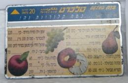 MONDOSORPRESA, SCHEDE TELEFONICHE, ISRAELE, FRUTTA - Israele