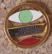 Pin's EDF GDF Moniteur De Prévention - EDF GDF