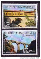 2016 TURKEY HISTORICAL BRIDGES MNH ** - 1921-... Repubblica