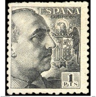 ES931TV-LTV***931STAN.Spain.Esgane .Militar,politico.GENERAL FRANCO Sanchez Toda.Dentado Grueso.1940/5.(Ed 931**) - 1931-Hoy: 2ª República - ... Juan Carlos I