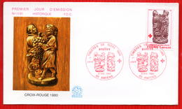 FDC FRANCE CROIX ROUGE 1980 AMIENS - Red Cross