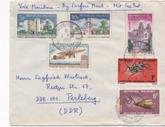 3114    Carta Correo Marítimo, Tananarive 1967 Madagascar, Surface Mail,. Surf - Madagascar (1960-...)