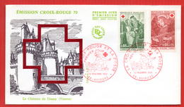 FDC FRANCE CROIX ROUGE  1970 POITIERS - Red Cross