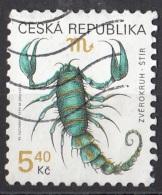 3069 Ceca 1999 Segni Zodiaco Zodiac Scorpione Viaggiato Used Republica Ceska - Astrologia