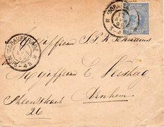 12 APR 1899 Envelop  Van 'sGravenhage (grootrond)  Naar Arnhem   Met NVPH 35 - Periode 1891-1948 (Wilhelmina)