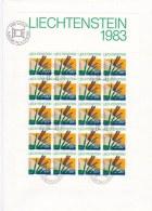 Liechtenstein 1982 FDC Schutz Minisheet 20 Stamps  (LAR3-B12)
