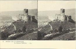 """CPA Stéréo """" Bords De La Moselle """" N°4 - Le Château Landshut. - Bernkastel-Kues"""