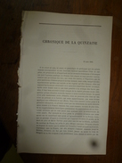 31 Août 1866 :  Chronique De La Quinzaine (Revue Des Deux Mondes)  20 Pages (signé A. Geffroy, F. Buloz) - Non Classificati