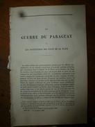1866 : La Guerre Du PARAGUAY Et Les Institutions Des états De La PLATA (38 Pages) , Signé :P. Duchesne De Bellecourt - Vieux Papiers