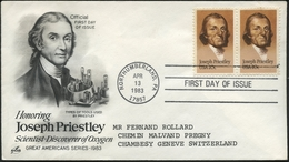 JOSEPH PRIESTLEY 1983 : Great Americans Series 1983 / Official First Day Of Issue - Etats-Unis