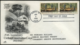CIVILIAN CONSERVATION CORPS 1983 : 50 Th Anniversary 1933 - 1983  / Official First Day Of Issue - Etats-Unis