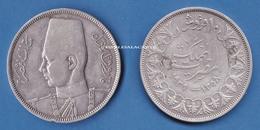 EGYPT  SILVER 10 PIASTRES  AH 1358  1939  KING FAROUK VERY GOOD/FINE CONDITION - Egypte