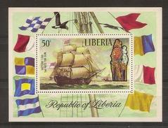 LIBERIA 1972, LORD NELSON´S  Ship - Bateaux