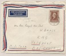 Nederlands Indië - 1947 - 10 Cent Wilhelmina Op LP-briefje Van LB SINGARADJA Naar Militair Veldpost Batavia - Netherlands Indies