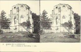 "CPA Stéréo "" Bords De La Moselle "" N°9 - ALF - Château De Marienburg. - Alf-Bullay"