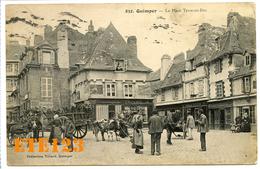 QUIMPER - La Place Terre Au Duc - Attelage Boeufs Vache Ane Cheval - 29 Finistère - Quimper
