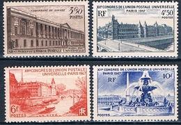 Francia 1947  -  Yvert - 780 / 83  MNH  ( ** ) - France