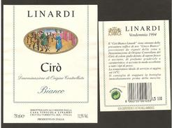 ITALIA - Etichetta Vino CIRO' Doc 1994 Cantina LINARDI Bianco Della CALABRIA - Vino Bianco