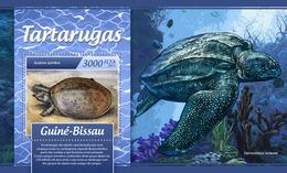 GUINEA BISSAU 2017 - Turtles S/S. Official Issue - Schildpadden