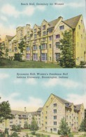 Indiana Bloomington Beech Hall & Sycamore Hall Indiana University Campus Curteich - Bloomington