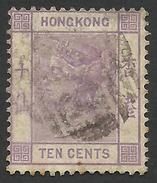 Hong Kong, 10 C. 1882, Sc # 42, Mi # 37, Used - Hong Kong (...-1997)