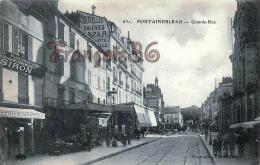 (77) Fontainebleau - Grande Rue -  2 SCANS - Fontainebleau