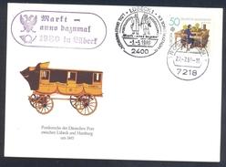 Germany Deutschland 1981 Card: Eagle Adler Aigle; Postal History: Postkutsche 1845; Carriage; Hats, Costumes - Adler & Greifvögel