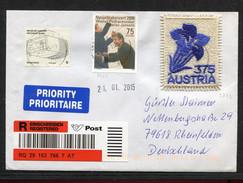 Österreich, Austria,  2015, Enzian, Stickereimarke - 1945-.... 2ème République