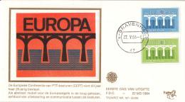 Nederland – FDC Trompet 167 – Europa/C.E.P.T.– NVPH 1307-1308/T167 Zijde - FDC