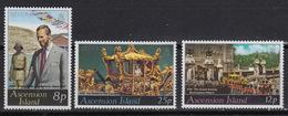 ASCENSION  219-21 MNH ** Silver Jubilee Queen Elisabeth   (1977) - Ascension (Ile De L')