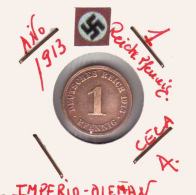 ALEMANIA - IMPERIO - DEUTSCHES REICH - 1  PFENNIG. . AÑO 1913-A - [ 2] 1871-1918 : Imperio Alemán