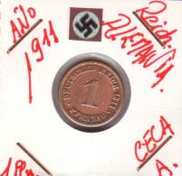 ALEMANIA - IMPERIO - DEUTSCHES REICH - 1  PFENNIG. . AÑO 1911-A - [ 2] 1871-1918 : Imperio Alemán