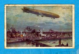 """** Luftschiff """" SCHÜTTE LANZ """" Warschau Bombardierend.** Illustré Par Hans Rudolf SCHULZE    - Verlag : / - Schulze, Hans Rudolf"""