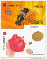 ALBANIA(chip) - Bee, Albtelecom Telecard 50 Units, 11/04, Used