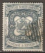 BORNEO  Du  Nord.   -   1886   Y&T N° 24 Oblitéré - North Borneo (...-1963)