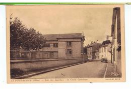 CPA-69-LYON-LE POINT-du-JOUR-RUE DES AQUEDUCS-LE CERCLE CATHOLIQUE-UNE VOITURE ANCIENNE- - Lyon