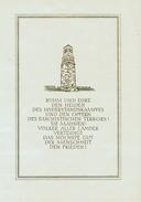 Gedenkblatt Konzentrationslager Buchenwald Siehe Scan - DDR