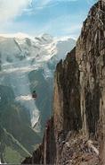 CHAMONIX-MONT-BLANC - 2000 - Le Téléphérique De Brévent , Le Mont-Blanc Et Le Glacier Des Bossons. - Chamonix-Mont-Blanc