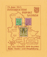 Urkunde Postdirektion Provinz Sachsen 15.06.45 Siehe Scan - DDR