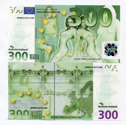 300 Eros/Euros German NOVELTY Joke Money ! NOT REAL MONEY - In Un-Circulated Condition - SUPER RARE EROTIC NOTE - [17] Fakes & Specimens