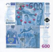 600 Eros/Euros German NOVELTY Joke Money ! NOT REAL MONEY - In Un-Circulated Condition - SUPER RARE EROTIC NOTE - [17] Vals & Specimens