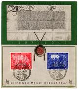 Urkunde 1947 Alliierte Besetzung Gem. Ausgabe Siehe Scan Michel 965 Und 966 - DDR