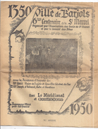 VILLE DE BARJOLS   6è CENTENAIRE DE LA ST MARCEL ORGANISE PAR LES AMIS DE ST MARCEL N°003336  1950 - Programmes