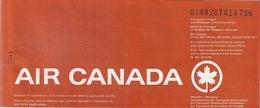 AIR CANADA  0144207414737  NEW YORK  MONTREAL   LES 2 BILLETS - Billets D'embarquement D'avion